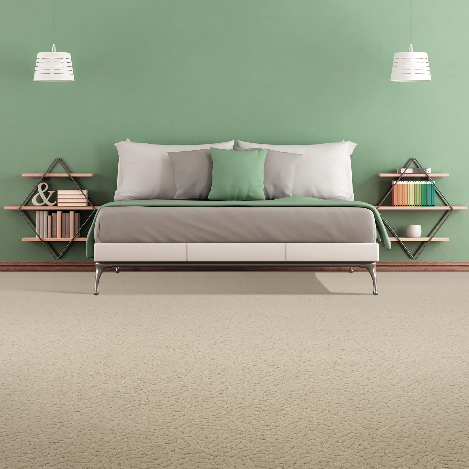 Green colorwall | The Carpet Stop
