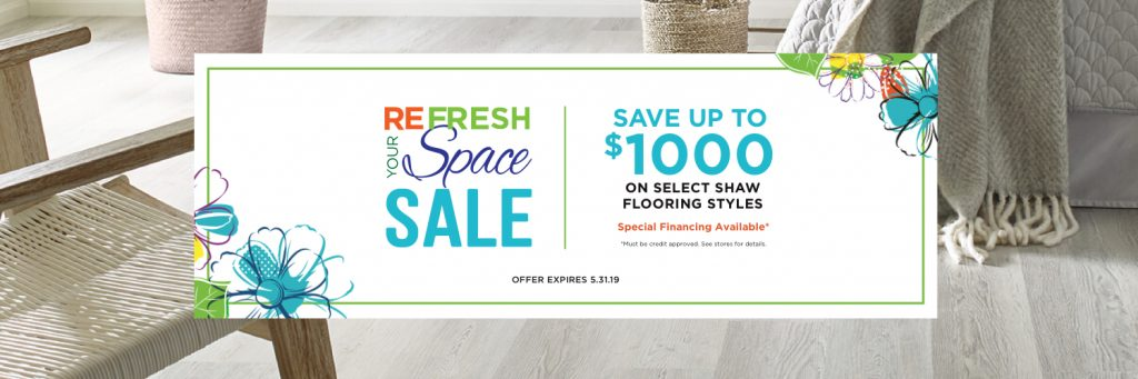 Refresh Your Space Sale coupon | The Carpet Stop