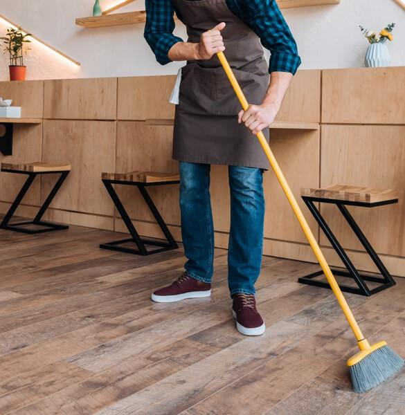Sweeping hardwood flooring | The Carpet Stop