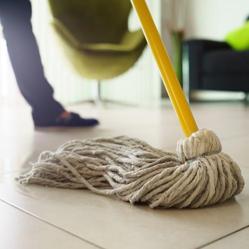Wet mopping tile flooring | The Carpet Stop