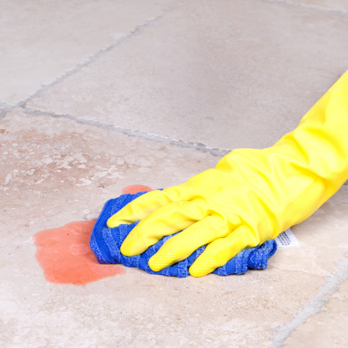 Cleaning spill off of tile | The Carpet Stop