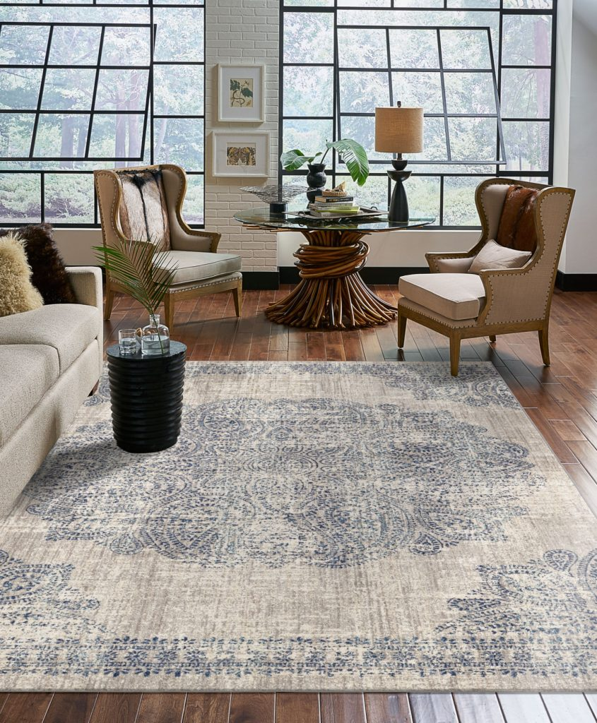 Area rug in living room | The Carpet Stop