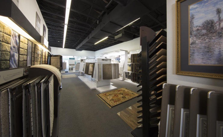 Variety of flooring products in showroom | The Carpet Stop