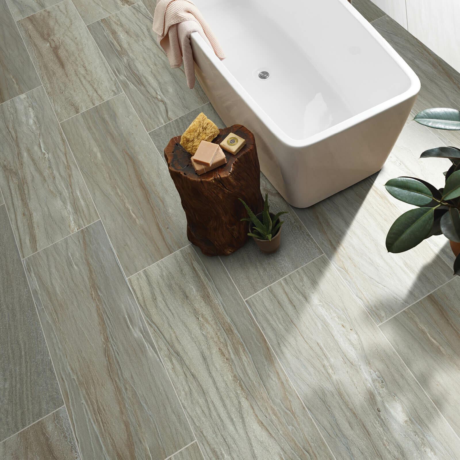 Sanctuary bathroom tile | The Carpet Stop