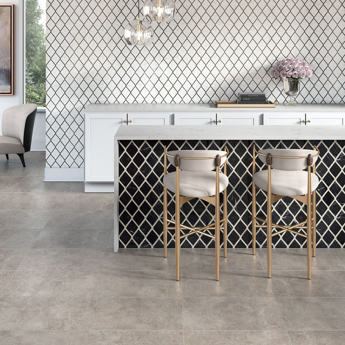 Stone flooring in home | The Carpet Stop